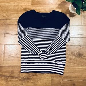💕🌵Luck Brand Navy Striped Cotton Top Size M